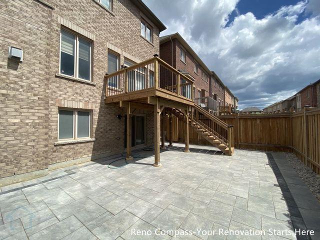 Markham装修 铺砖及露台