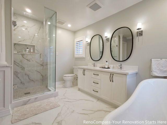 浴室要装修?赶快看看这组不到3周,就将旧浴室改造得现代时尚的工程案例吧!
