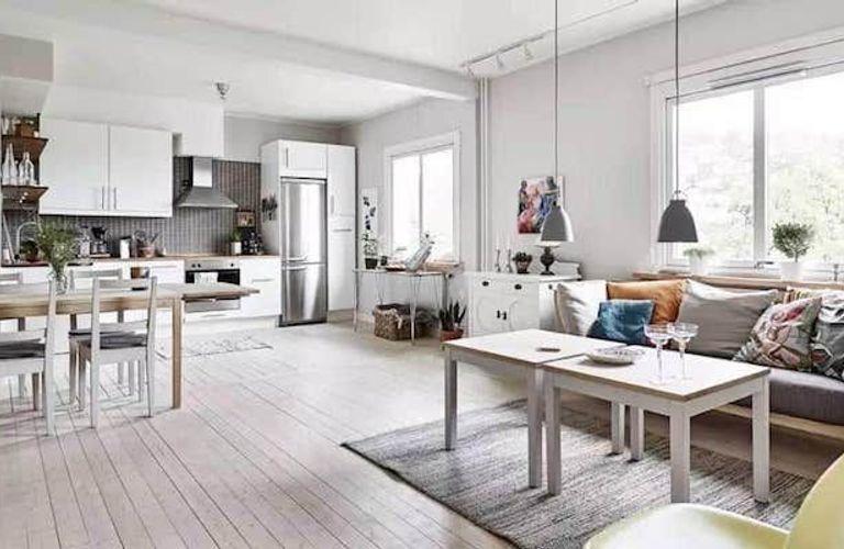 地板颜色怎么选?20%看家具,30%看采光,50%看软装!