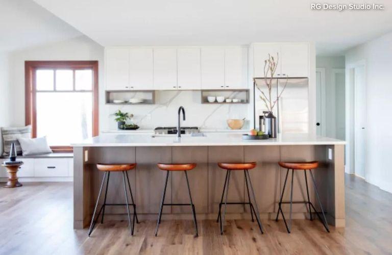 三口之家的现代简约风格厨房设计,简约而不简单!